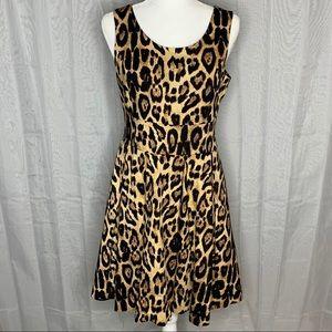 Pink Tartan Leopard Dress